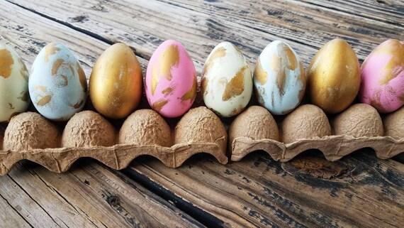 Decorative Easter Eggs, Easter Eggs, Metallic Eggs, Metal Leaf Eggs, Gilded Eggs, Distressed Gold Eggs
