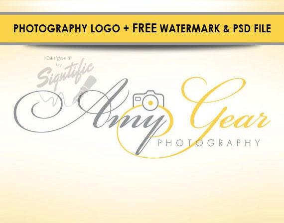 Photography logo design, free watermark and PSD source file, photographer logo, photograph watermark, custom camera logo design
