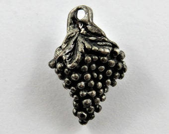 Bunch of Grapes Sterling Silver Charm or Pendant.