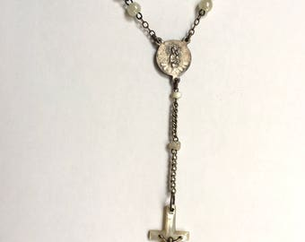 1920s Rosary from metal and Glass