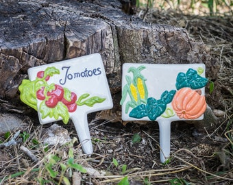 Vegetable Garden Plant Stakes - Set of Two