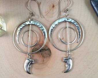 Spirit of the Bear Talisman Earrings