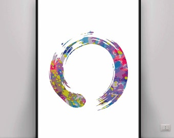 Zen Art, Zen Enso Art, Meditation Art, Digital Art, Digital print, Mindful Art, Peaceful Art, Energy Art, Energy Print, Yoga Art, Buddhism