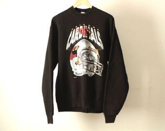 vintage 90s ARIZONA CARDINALS nfl football black size XL sweatshirt made in usa