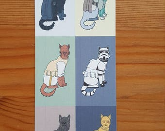 Star Wars Cats bookmark