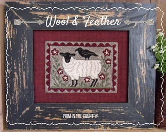 Wool & Feather Punch Needle Pattern