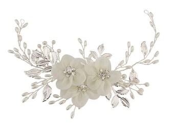 bridal hair vine, leaf hair vine, vine, wedding hair vine, floral hair vine, bridal headpiece, crystal hair vine, wedding headpiece, vines
