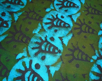 African Batik, Hand Dyed, from Ghana Africa