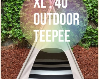 "Outdoor Pet Teepee - XL extra large 40"" base for large dog - custom made to order"