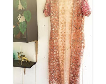 Gorgeous Hand-Beaded Sheer Robe