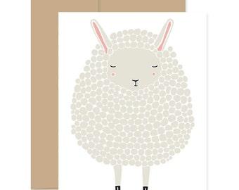 8 Sheep Greeting Cards, Gray Sheep Cards, Baby Shower Card, Gray Lamb Card, Congratulations Card, Easter Lamb Card, Lamb Greetings