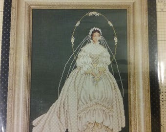 New Cross Stitch Pattern Lavender and Lace - I Thee Wed by Marilyn Leavitt-Imblum