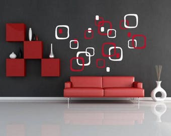 Wall sticker - Squares (2645n)