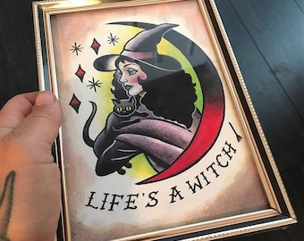 Original Painting- Life's A Witch