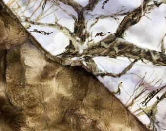 Gender Neutral Camouflage Baby Blanket, True Timber Camo Minky Baby Blanket, Camo Baby Blanket, Minky Crib Blanket Baby, Country Western