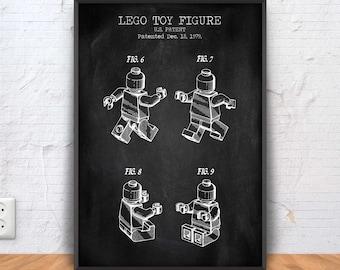 LEGO MAN patent print, lego poster, lego blueprint, lego illustration, lego wall art, lego decor, lego printable, lego toy, #1238