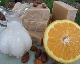 Sweet Orange and Almond Natural Herbal Soap