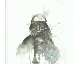 Star Wars Darth Vader Watercolor Print