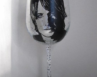 Hand Painted Wine Glass - KEITH URBAN - Country Music Singer, Song Writer, Guitarist