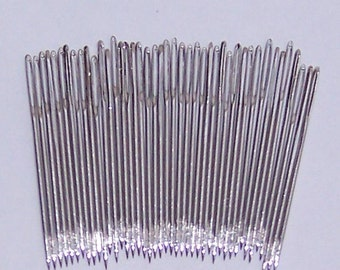 Chenille Sewing Needles, Hand Sewing Needles, Size 18 Needles Nickel Plated-Really Sharp Points