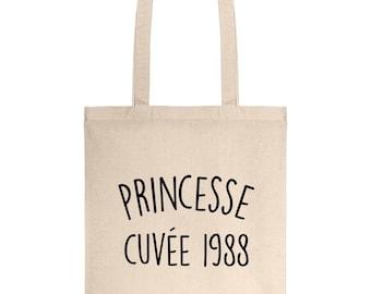 Vintage Princess canvas 1988 30 cotton gift bag
