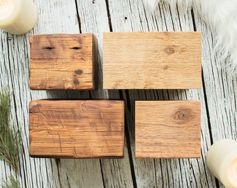Pillar Candle Stand Blocks - Coffee Table Candles, Rustic, Farmhouse, Modern Candle Holders, Minimalist Chunky Candle Stand, Dining Table