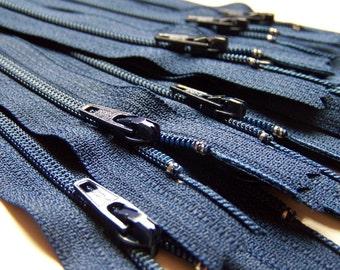 Wholesale YKK Zippers Twenty-five 14 Inch Navy Blue Color 919