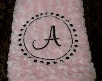 Round  Blanket with Piping or Satin Ruffle - Minky and Satin -  Dog Blanket - Baby Blanket