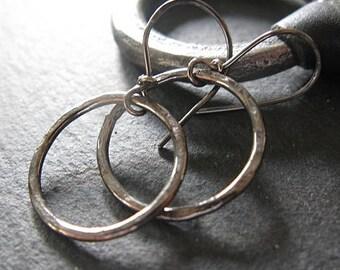 Small Black Hoop Earrings Silver Hoops Black Rhodium Large Hoop Earring Black Silver Hoop Earring Sterling Silver Hoops Boho Earring