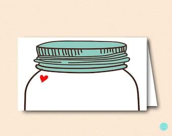 Mason Jars Food Label, Tent Labels. Food Tent Labels, Bridal Shower Labels, Bridal Shower Decorations, baby shower decorations BS94 ds