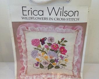 Wildflowers in Cross Stitch Kit, Erica Wilson