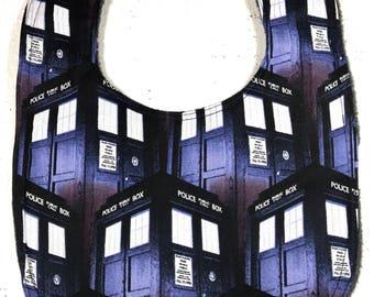 Doctor Who Bib - Baby Bib -  Infant Bib - Dribble  bib - Tardis bib  - dr who - Geek Baby - Baby Shower Gift doctor who bib
