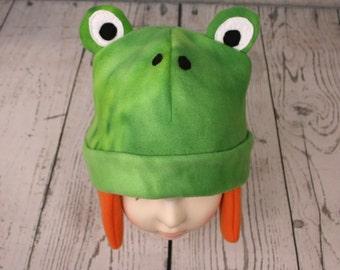 Adult Frog Fleece Hat