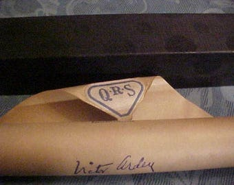 Vtg.Piano Roll-QRS-#3325-I NEVER KNEW - Played/Signed Victor Arden