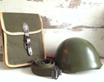 NEVER USED - Metal military helmet - Bulgarian military helmet - Bulgarian Army - Vintage military helmet