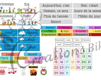 Visual calendar for child
