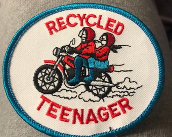 RECYCLED TEENAGER PATCH Novelty Suggestive Item Motorcycle Freedom Riders Great for Over 50 Gang :)