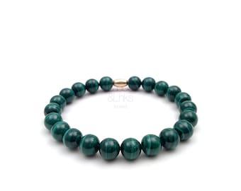 Malachite bracelet, genuine malachite, unisex bracelet, Christmas gift, special gift, gift for him, gift for her.