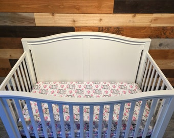 3 piece fitted Crib/Toddler bed sheet