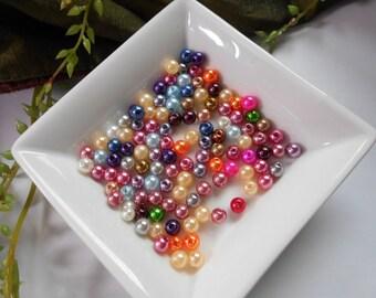 50 acrylic beads - multicolored 6 mm