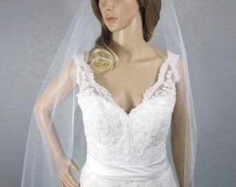 Wedding Veil, Bridal Veil, Fingertip Veil, Handmade, Bride, Vail, Accessory, Gift