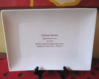 Baptism Guest Book Signature Platter Customized
