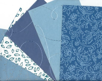 Handmade Paper 5 Sheets for DIY Card Making, Collage, Scrapbooking, Paper Arts, Mixed Media & MORE PSS 2844