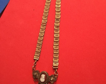 Bookchain cameo hair necklace