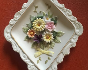 Beautiful Intricate Lefton Antique Wall Hanging