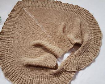 Shawl knit Shawl as a gift Wrap shawl Wool shawl Gift for mom  Gift for her Triangular Shawl