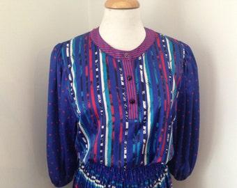 Diane Fres, 80's printed dress