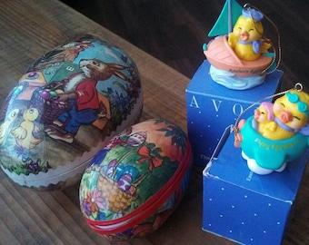 Vintage Easter Decor items.