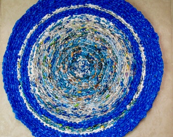 Planet Earth Recycled rug, Designer Planet Earth recycled rug, Recycled Earth Designer rug