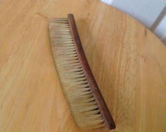antique traveler's brush,traveler's brush,wooden handle brush,clothes brush,clothing brush,antique brush,clothing brush